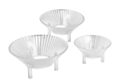 Polycarbonate reflectors for LEDs