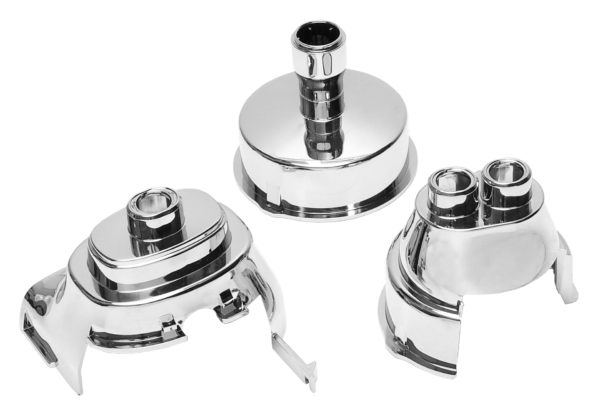 Chrome-plated coffee dispenser nozzles